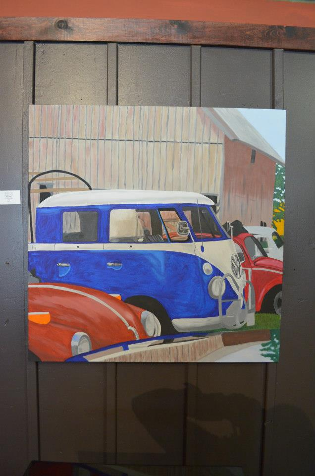 Double Cab Sarah Urwin Hot [Rod] Oil on Canvas 3'x3' NFS