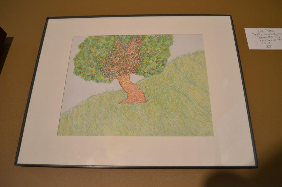 Hill Tree shelly Lynn Xiong  born [again]  Color Pencil  11x14 35