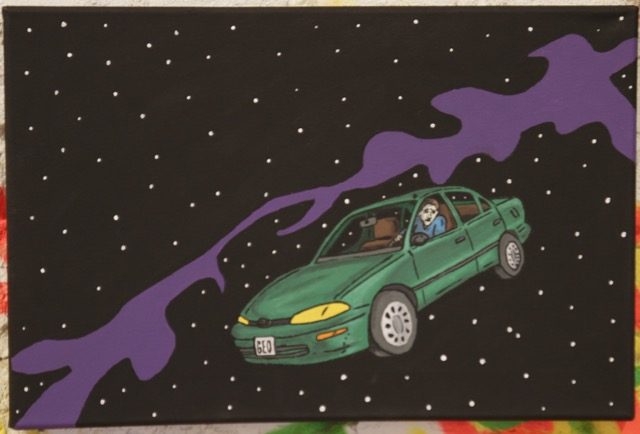 Geo in Space |Kevin Heesacker | Acrylic on Canvas | 12 x 18 | $50
