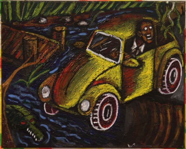 Swamp Ride | Corey Lundquist | 16x20 | Acrylic | $85