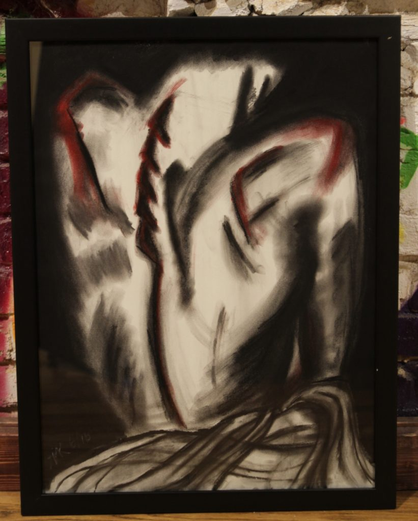 (I've Watched You) Change Katelyn Kros Charcoal/Pastels | 18x24 | $150.00